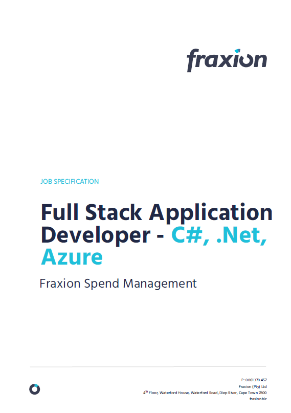 full stack application developer